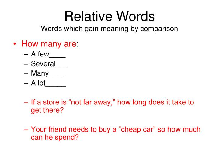 Relative Words