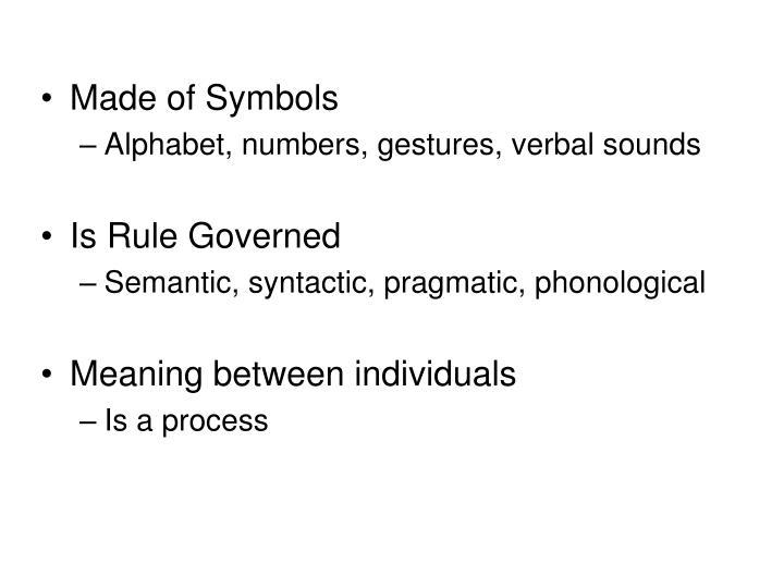 Made of Symbols