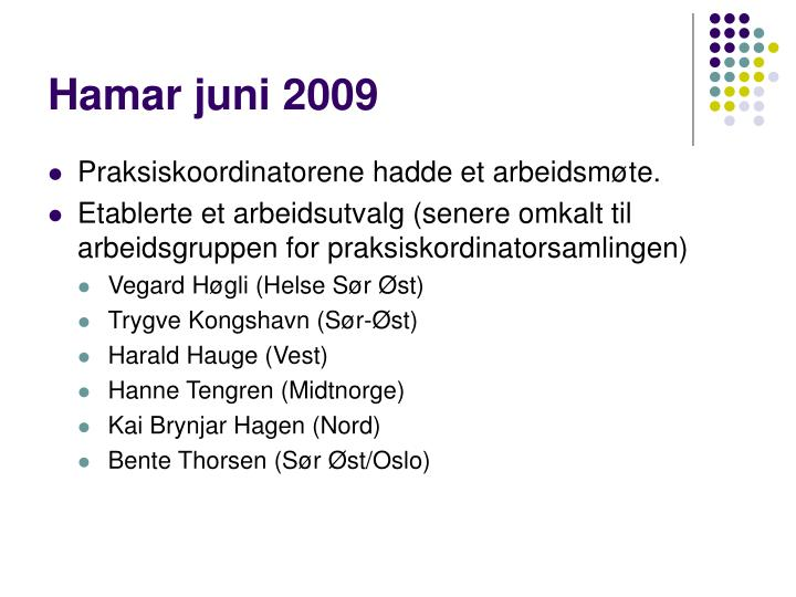 Hamar juni 2009