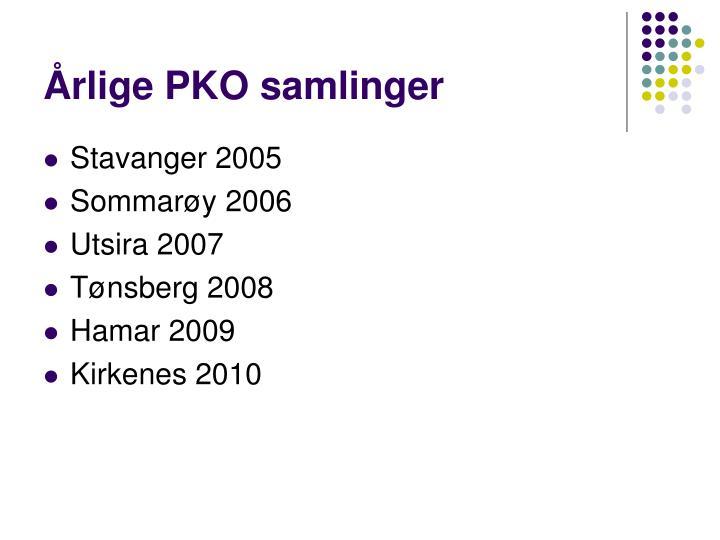 Årlige PKO samlinger