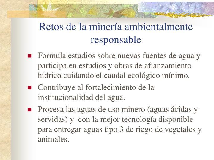 Retos de la minería ambientalmente responsable
