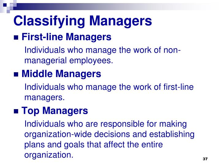 Classifying Managers