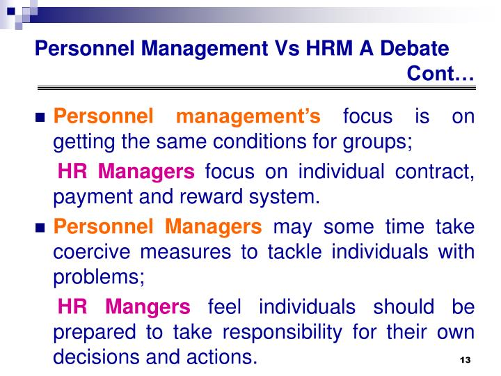 Personnel management's