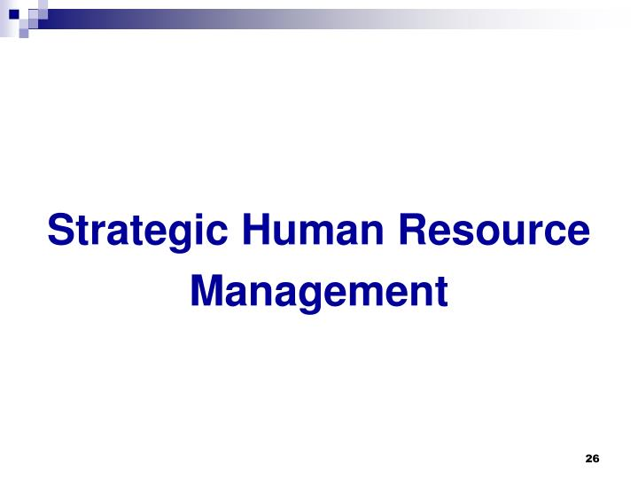 Strategic Human Resource