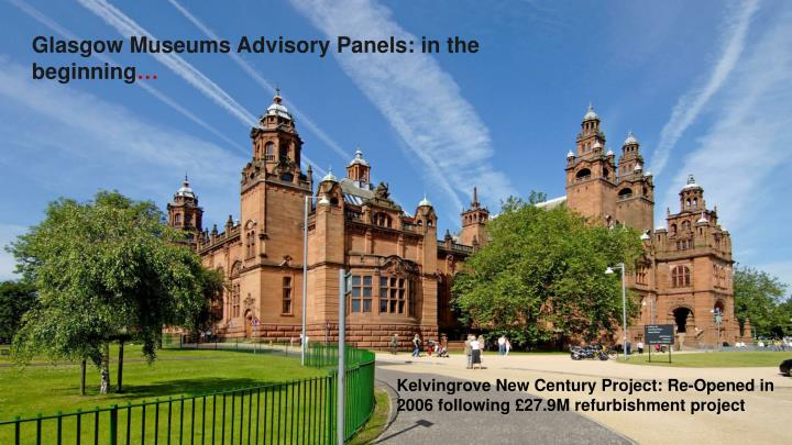 Glasgow Museums Advisory Panels: in the beginning