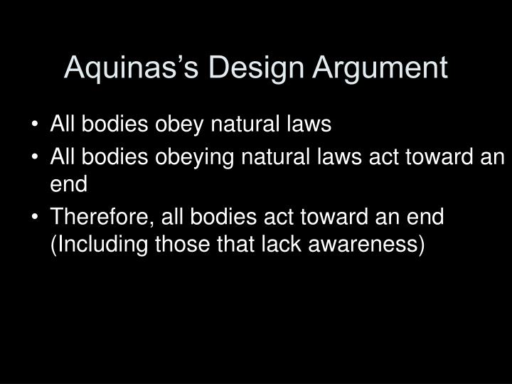 Aquinas's Design Argument
