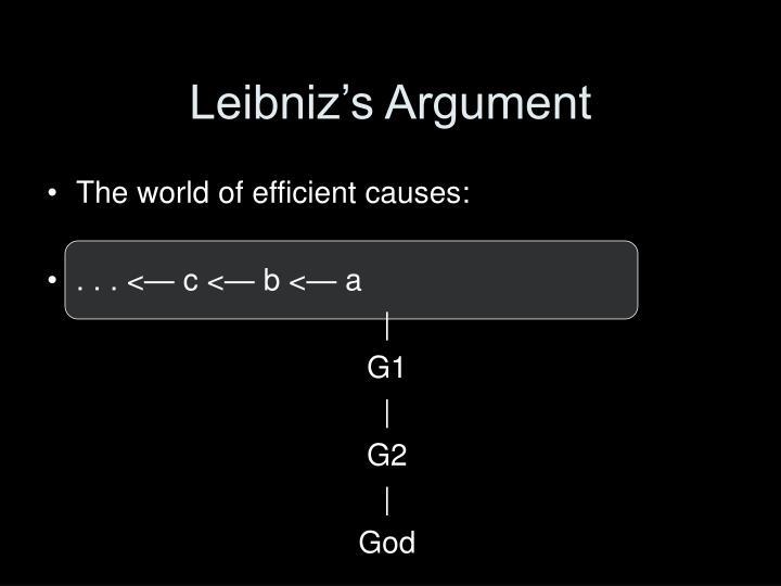 Leibniz's Argument
