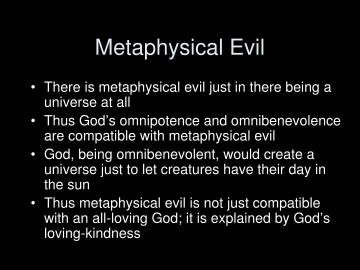Metaphysical Evil