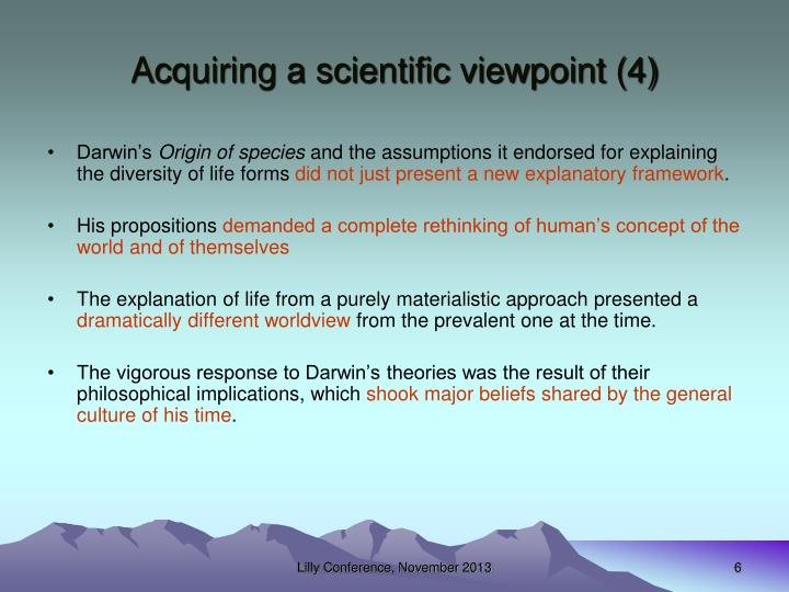 Acquiring a scientific viewpoint (4)