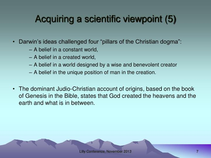 Acquiring a scientific viewpoint (5)