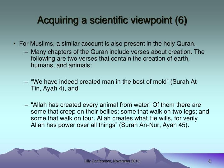 Acquiring a scientific viewpoint (6)