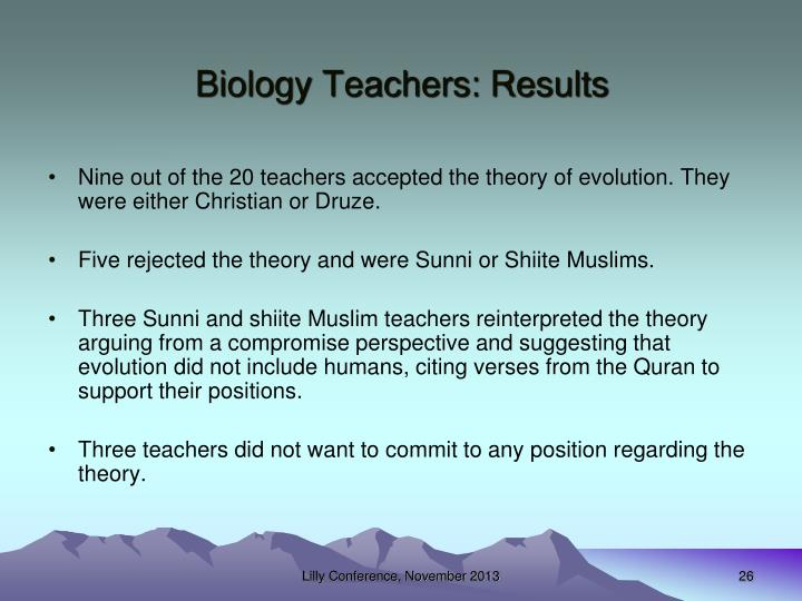 Biology Teachers: Results