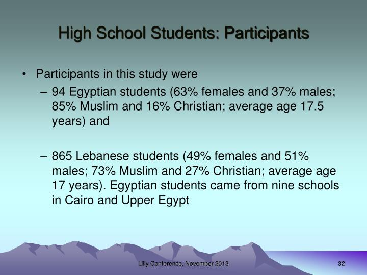 High School Students: Participants