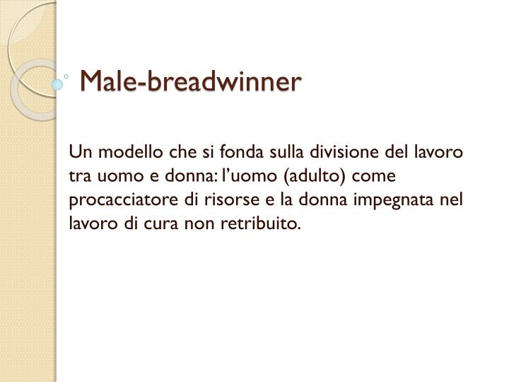 Male-breadwinner