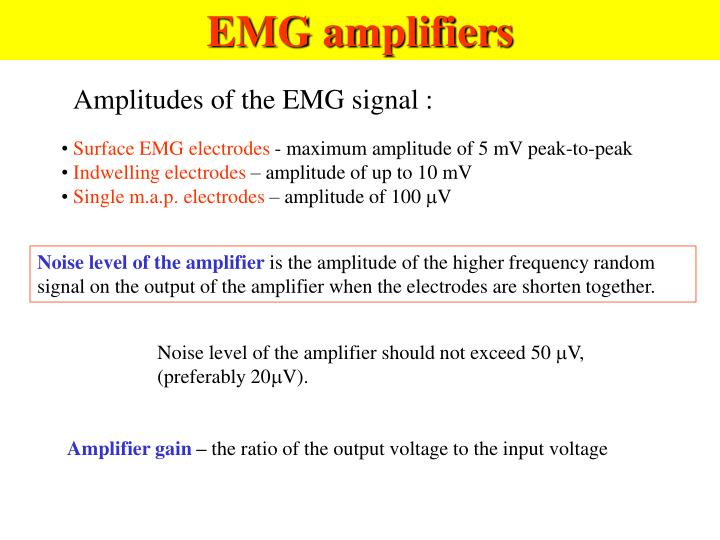 EMG amplifiers