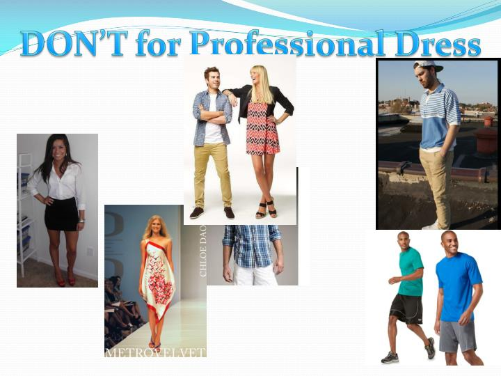 DON'T for Professional Dress