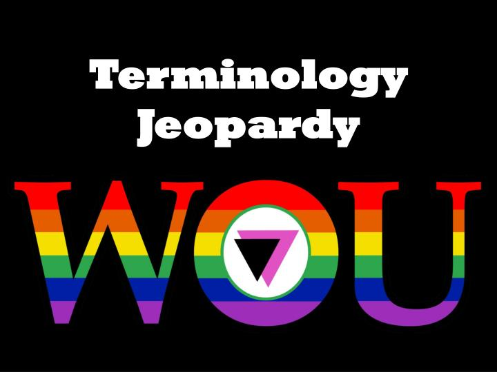 Terminology jeopardy