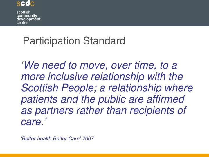 Participation Standard
