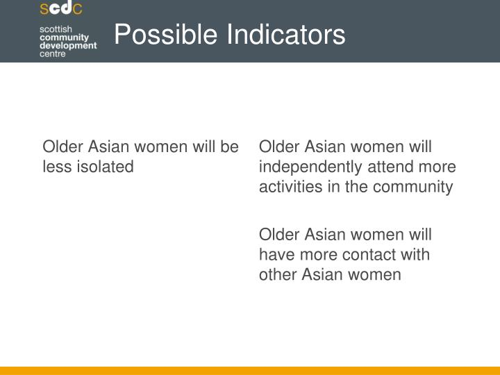 Older Asian women will be less isolated