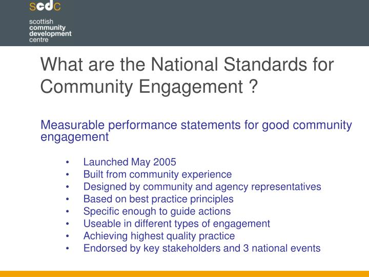 What are the National Standards for