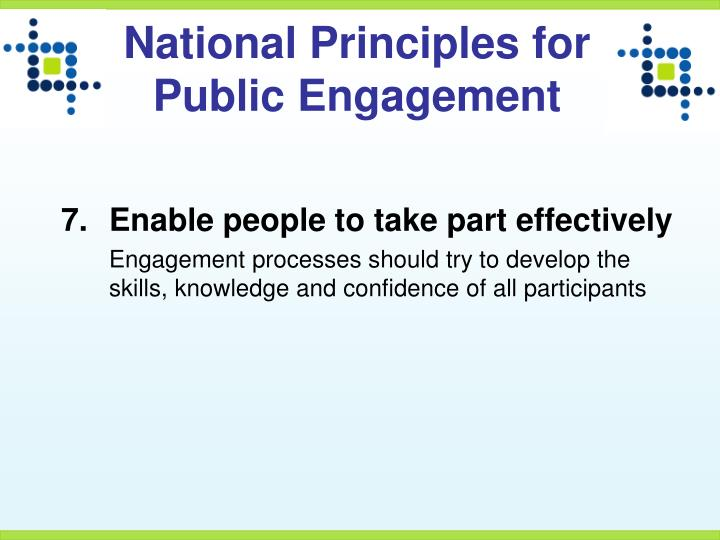 National Principles for Public Engagement