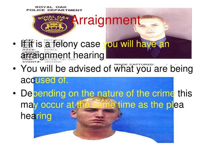 Arraignment