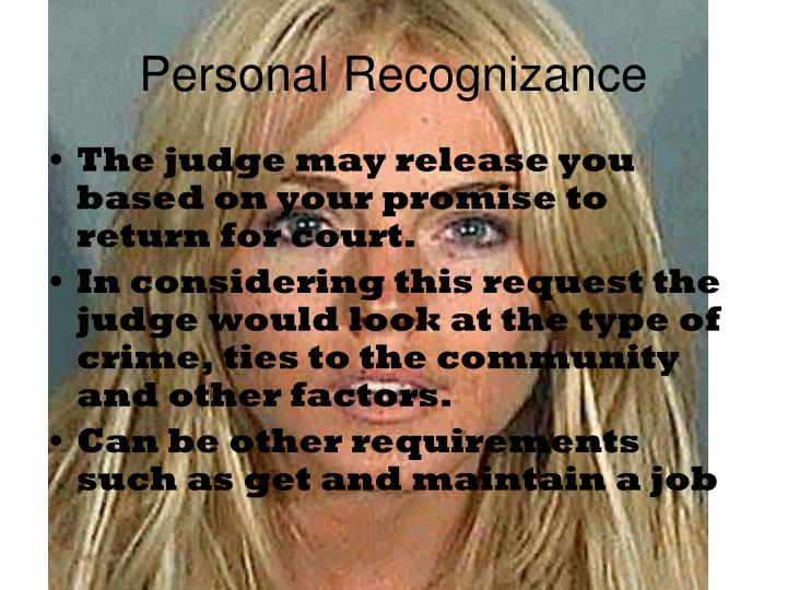 Personal Recognizance
