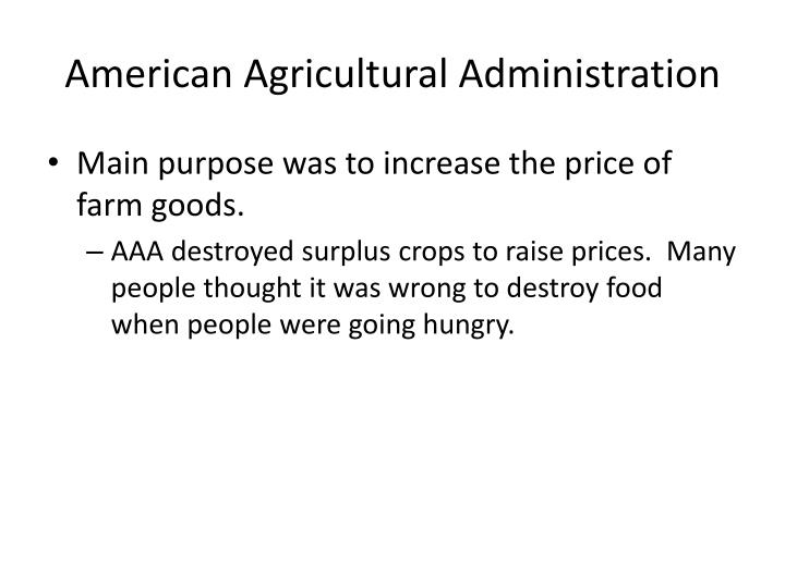 American Agricultural Administration