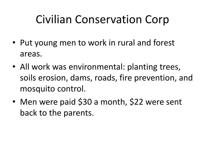 Civilian Conservation Corp