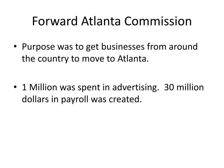 Forward Atlanta Commission