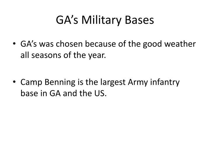 GA's Military Bases