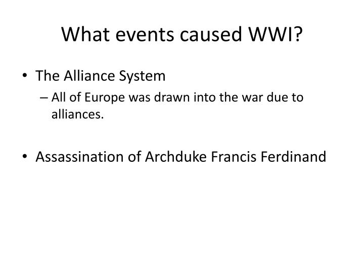 What events caused wwi