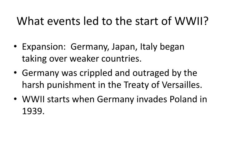 What events led to the start of WWII?