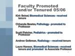 faculty promoted and or tenured 05 06