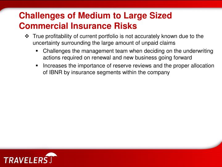 Challenges of Medium to Large Sized Commercial Insurance Risks