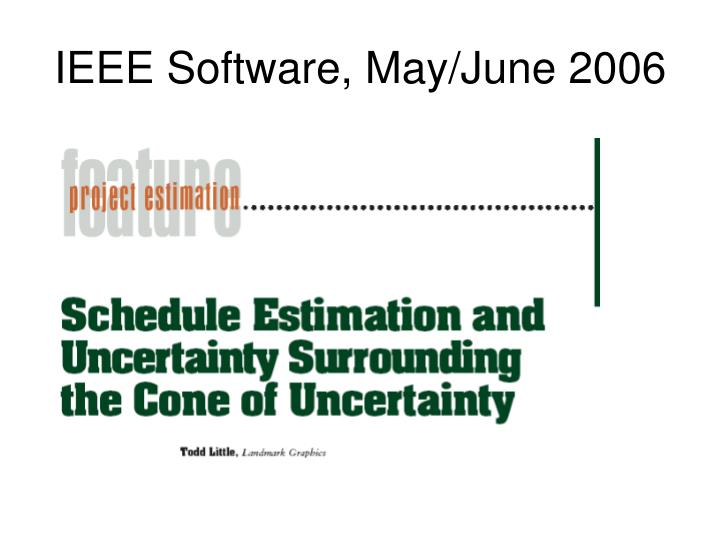 IEEE Software, May/June 2006