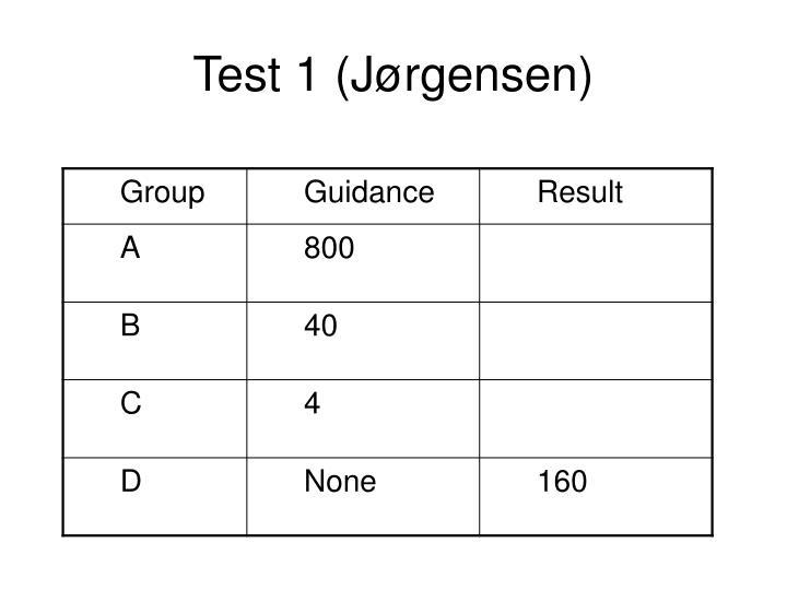 Test 1 (Jørgensen)