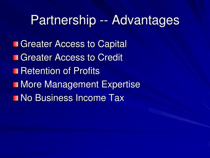 Partnership -- Advantages
