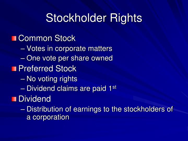Stockholder Rights