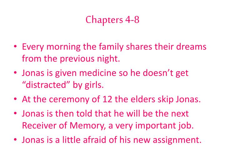 Chapters 4-8