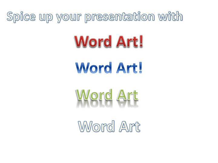 Spice up your presentation
