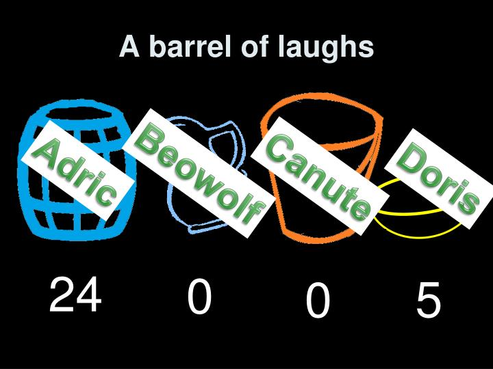 A barrel of laughs