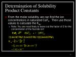 determination of solubility product constants4