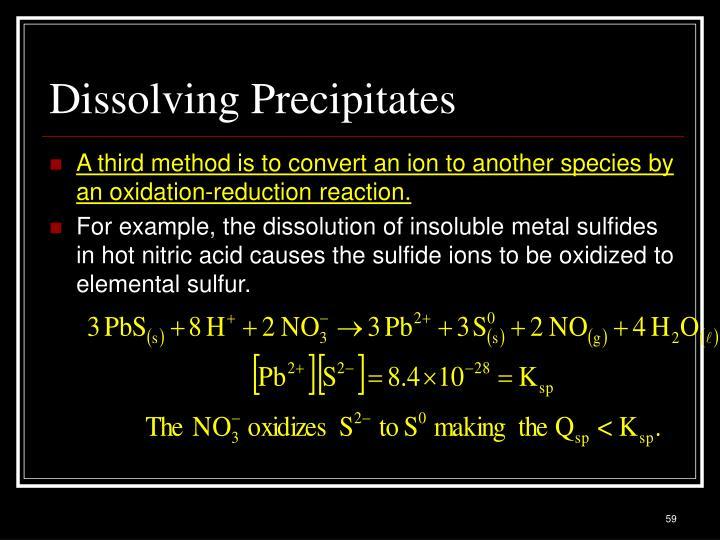 Dissolving Precipitates