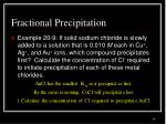 fractional precipitation1