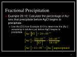 fractional precipitation6