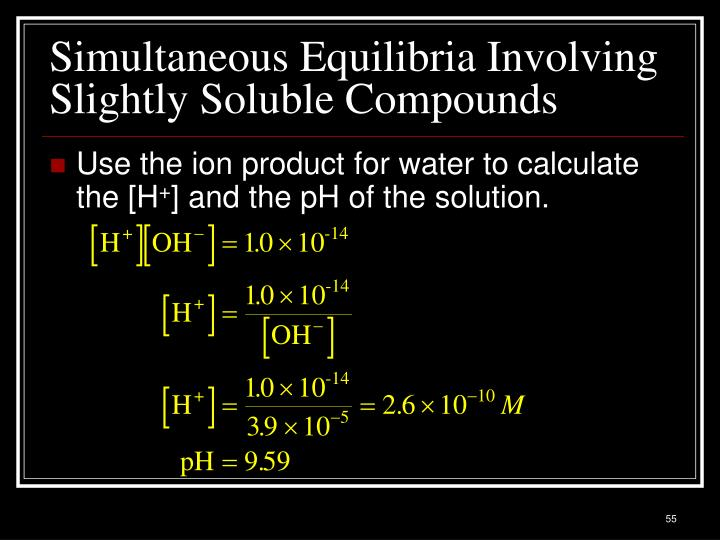 Simultaneous Equilibria Involving Slightly Soluble Compounds