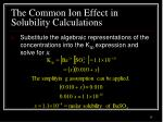 the common ion effect in solubility calculations2