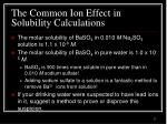 the common ion effect in solubility calculations3