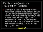 the reaction quotient in precipitation reactions4